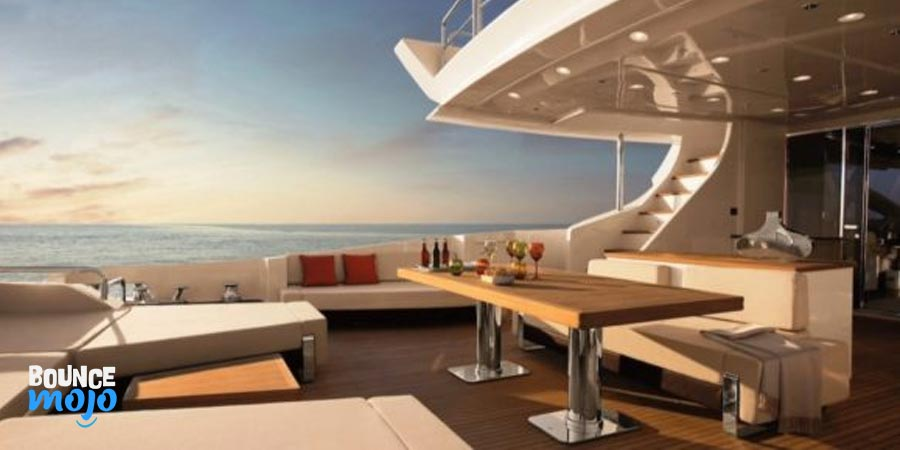 Tiger Woods Yacht Dining Area