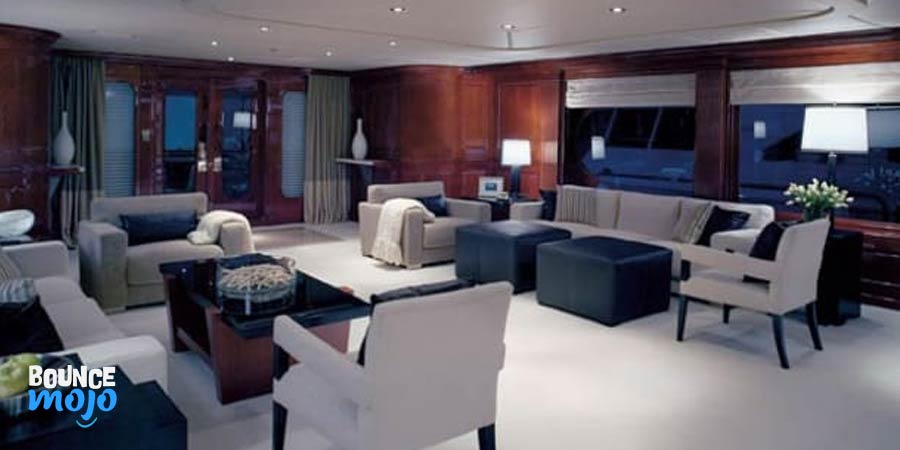 Tiger Woods Yacht Living Area