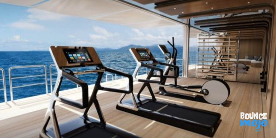 Tiger Woods Yacht Gym