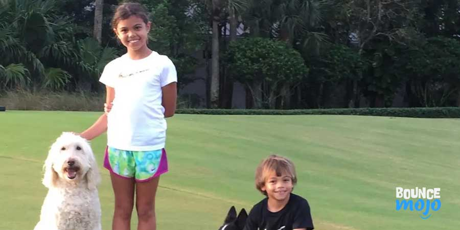 Young Tiger Woods Children